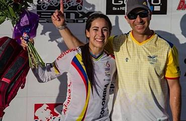 El binomio ideal, la campeona Mariana Pajón con su entrenador Germán Medina.