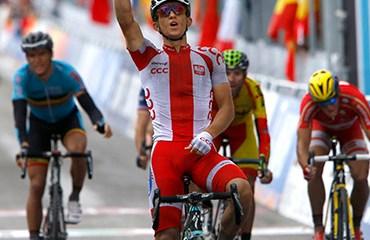 Polonia obtuvo su primera medalla de oro en la prueba con Michal Kwiatowski.
