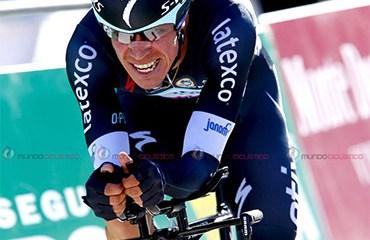 """""""Rigo"""" realizó este martes una impresionante crono que lo devolvió al podio general de la Vuelta a España (Foto©BettiniPhoto)"""