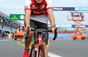 El piloto de la Escudería Ferrari, Fernando Alonso, siempre ha expresado su gusto por el pedalismo.