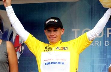 El quinto campeón colombiano del Tour de L'Avenir, Miguel Ángel López, la gran figura en la carrera llanera