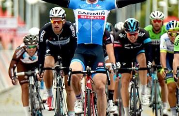 Tyler Farrar (Garmin-Sharp) ganador de la etapa del Tour de Beijing.