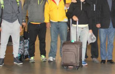 El equipo llegó a Bogotá tras su participación en Londres.