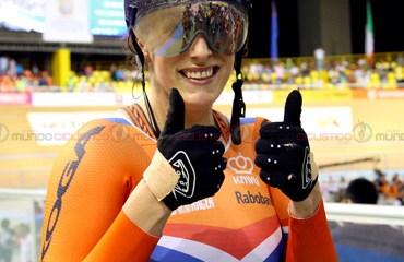 La holandesa Ligtlee se coronó reina del velódromo caleño al final de la segunda jornada