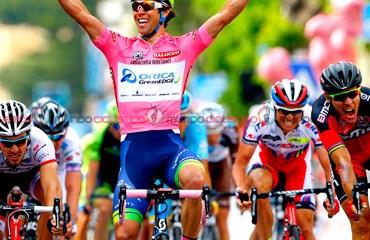 El líder Michael matthews se llevó la tercera etapa del Giro