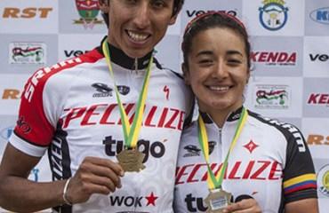 Egan Bernal y Xiomara Guerrero integraron el equipo de Cundinamarca que se quedó con el oro nacional en los Relevos