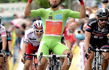 Nacer Bouhanni, el vencedor de la cuarta etapa de la Dauphiné Liberé