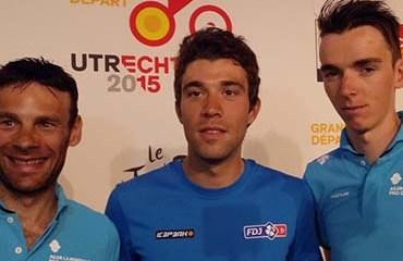 Romain Bardet, Thibault Pinot y Jean Cristophe Perrault son la gran esperanza del ciclismo francés para el podio de París