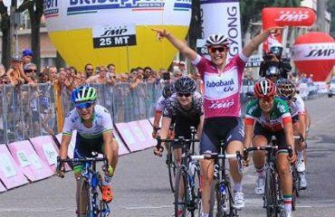 Lucinda Brand, la vencedora de la séptima etapa