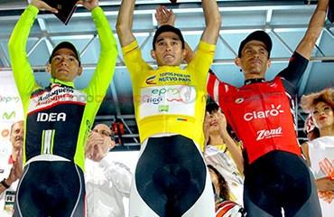 El español sumó su tercera corona consecutiva en la Vuelta a Colombia cuya versión 2015 terminó este sábado en la noche en Medellín