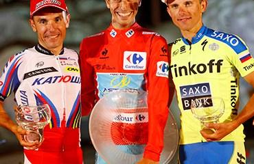 """Aru encabezó un podio que completaron el español """"Purito"""" Rodríguez y el polaco Majka"""