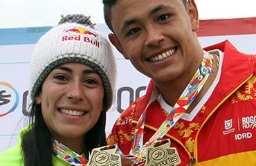 Miguel Calixto Oro en los Juegos Nacionales (Foto Fedeciclismo)