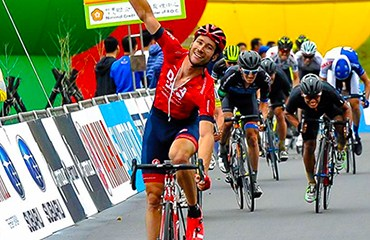 William Clarke vencedor en la cuarta etapa del Tour de Taiwan (Photo: Tour Taiwan Cycling malasia)