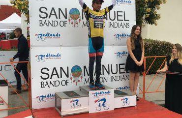 Janier Acevedo a una etapa del título de la Redlands Bicycle Classic