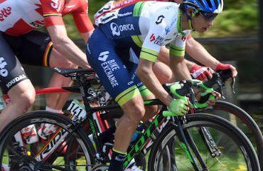 Esteban Chaves, noveno en la etapa y décimo en la general (FOTO Orica)