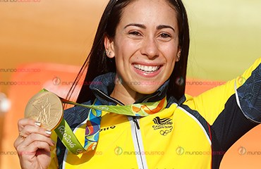 Mariana Pajón se colgó su segunda medalla de oro olímpica este viernes en Río de Janeiro