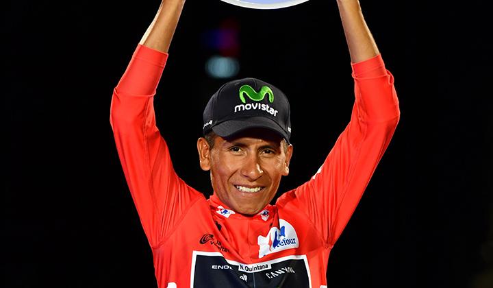 Nairo Quintana, manifestó que Colombia es paz, amor y deporte
