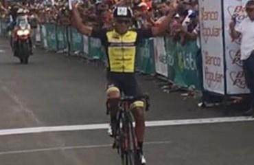 Caicedo le dio al Strongman-Campagnolo-Wilier su segunda victoria de etapa en la Vuelta a Costa Rica 2016 (Foto©FBVueltaaCostaRica)