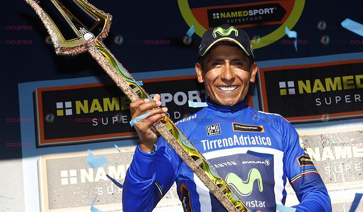 Nairo Quintana, levantó su segundo Tridente