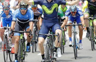 Carlos Barbero ganador de etapa en Vuelta a Castilla y León (Foto Movistar)