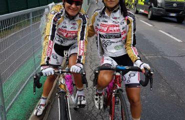 Ana Sanabria y Camila Lozano, en La Course by Le Tour de France