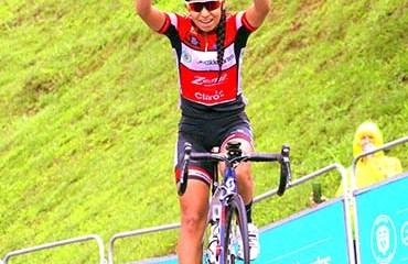 Paula Patiño se llevó la victoria en la cuarta etapa de la ronda nacional femenina 2017