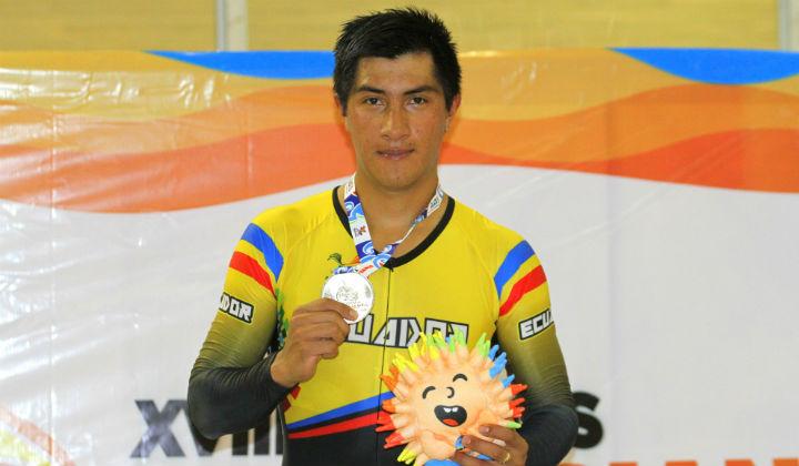 Jorge Montenegro medalla de oro para Ecuador en prueba por puntos