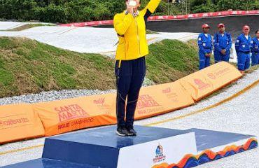 Mariana Pajón medalla de oro en la serie por mangas del BMX de los Bolivarianos
