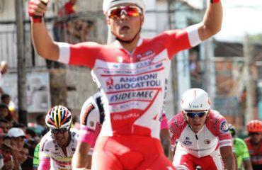 Matteo Malucelli ganador de primera etapa de Vuelta al Táchira