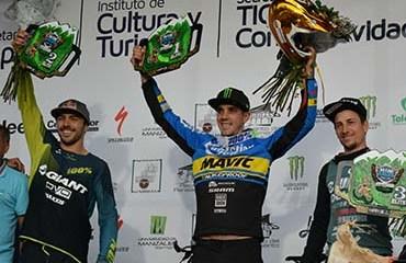Marcelo Gutiérrez fue segundo en el podio final de la Copa Mundo de Enduro celebrada en Manizales
