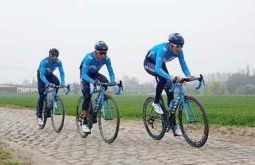 Mikel Landa, Nairo Quintana y Alejandro Valverde con la mente puesta en el Tour de Francia (Fotos Movistar)