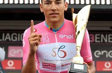 Alejandro Osorio asumió este lunes la maglia rosa del Giro de Italia Sub-23