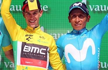 Quintana finalizó tercero en la CG de la Vuelta a Suiza en en un buen preludio de su sueño amarillo 2018