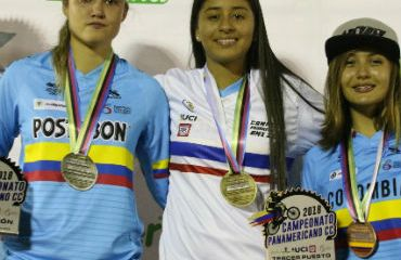 Laura Ordóñez, Gabriela Bolle y Camila Diosa, brillaron por Colombia en Panamericano (Foto FCC)