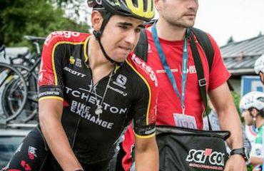 Brayan Chaves, con del Mitchelton-Scott en Tour de Utah desde el lunes (Foto Mitchelton-Scott)