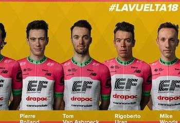Rigoberto Urán será el Jefe de Filas del EF-Drapac en la Vuelta a España 20