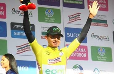 Contreras se vistió este domingo como primer líder de la edición 2018 de la Vuelta a Colombia