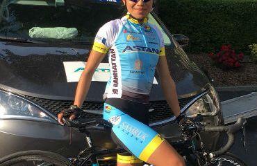 Blanca Liliana Moreno sigue sumando kilómetros en Europa con el Astana