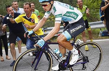 López fue segundo en una brillante actuación y entró al podio a falta de un día para el final de la Vuelta a España 2018