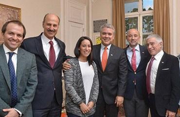 El Presidente, Iván Duque, recibió al comité organizador del Tour Colombia 2.1 que encabezan el Director de Coldeportes, Ernesto Lucena y el Pte de la FCC Jorge O. González
