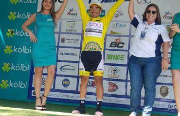 El colombiano Diego Cano conservó un día más la camiseta amarilla de líder (Foto Strongman)