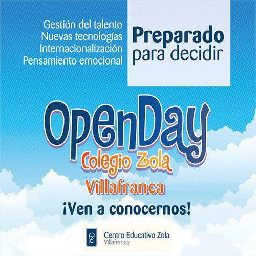 open day en el colegio zola de villafranca