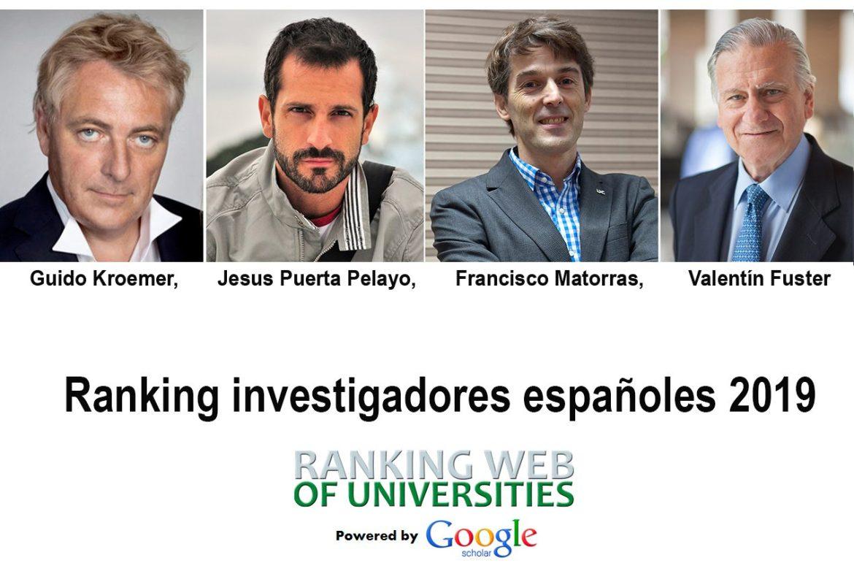 ranking 2019 de investigadores españoles