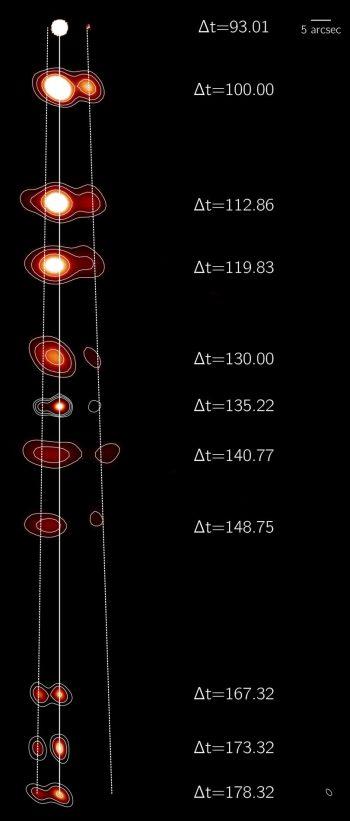 obtenida la película completa de cómo un agujero negro expulsa materia