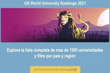 ranking qs, mejores universidades del mundo 2021
