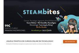nace steambites, la nueva plataforma formativa online en ciencia y tecnología para jóvenes.