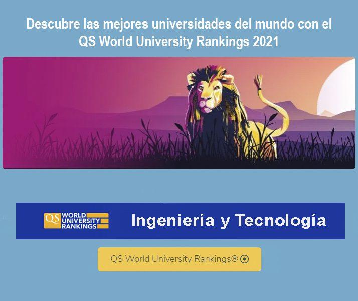 ranking qs ,mejores universidades en ingeniería y tecnología