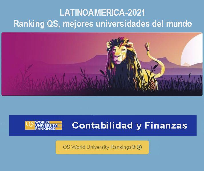 ranking qs ,mejores universidades latinoamericanas en contabilidad y finanzas