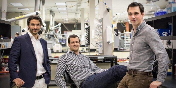 Los cofundadores de Sila de izquierda a derecha Gleb Yushin Gene Berdichevsky y Alex Jacobs