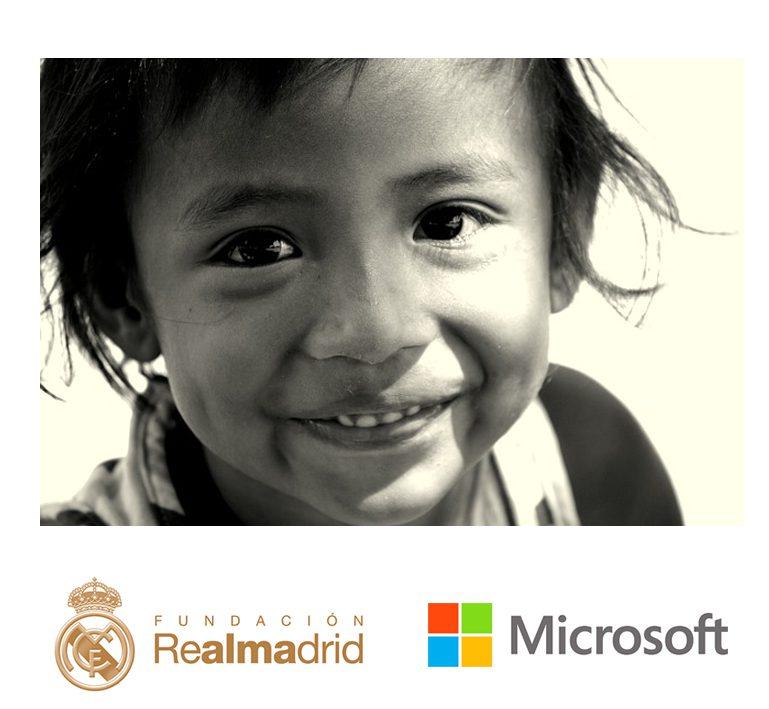 microsoft y la fundación real madrid: cooperación internacional.